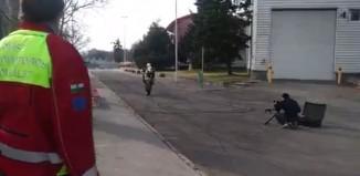 Motorcycle loses control