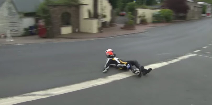 Isle of Man TT, ıslak zemin