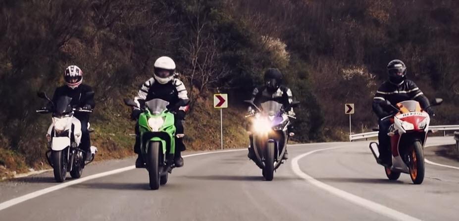 Yamaha YZF R25, Suzuki Inazuma, Honda CBR 250R, Kawasaki Ninja 250SL