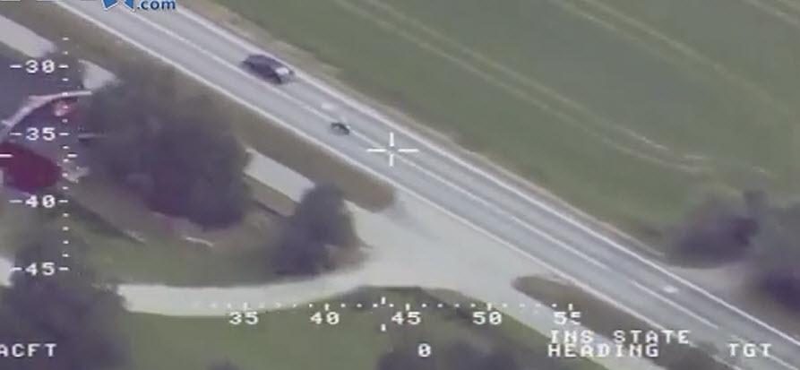 polisten kaçış motosikletli