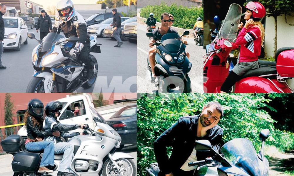 ünlüler ve motosiklet
