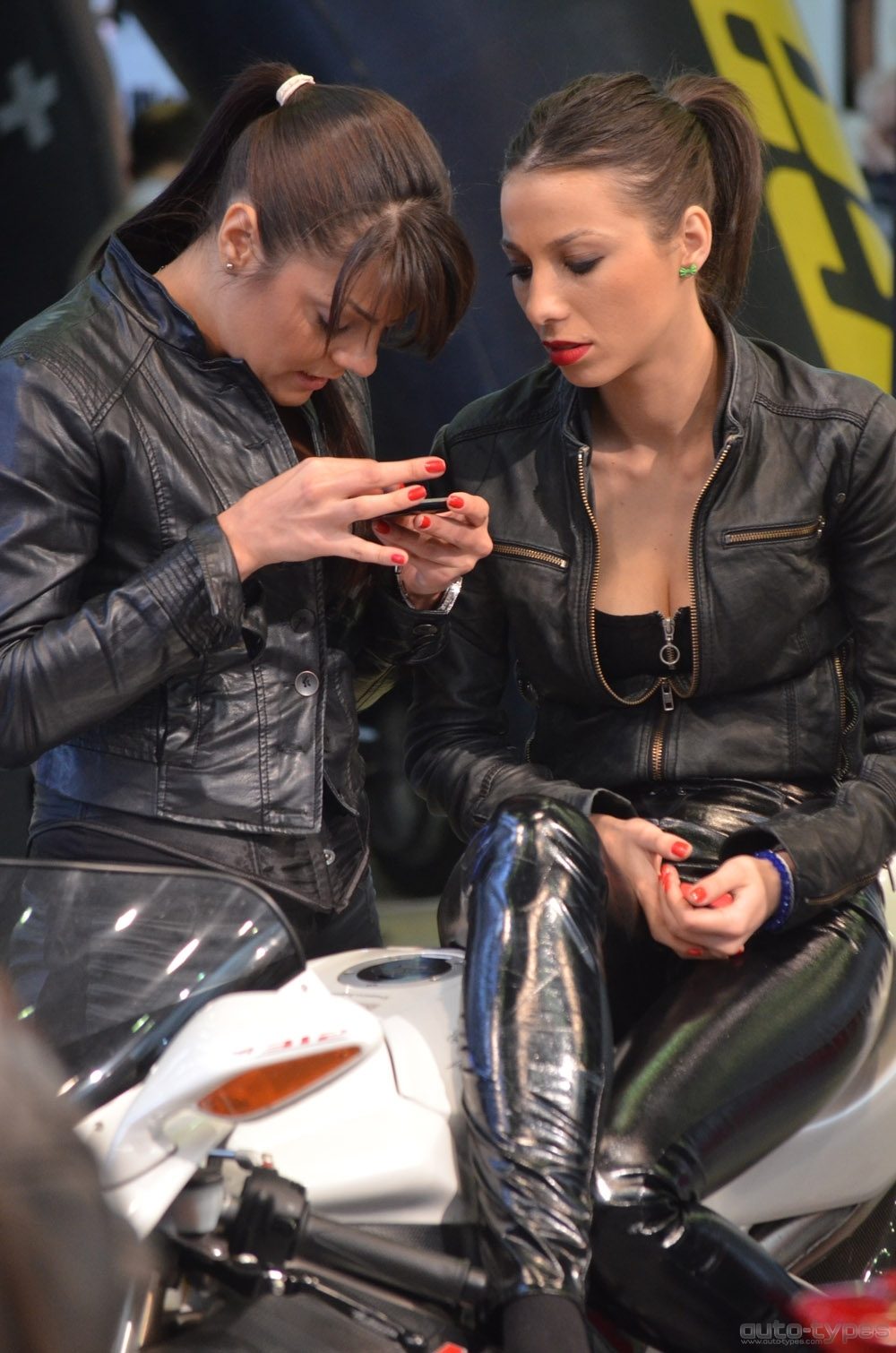 Girls from Motorcycle Accessories and Equipment Bucharest Show 2012
