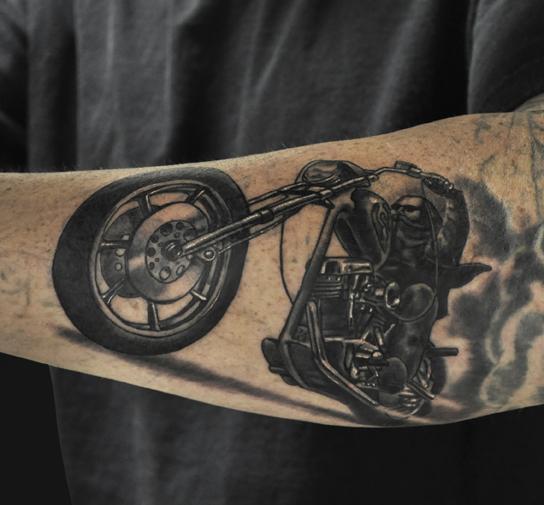 motorcycle tatoo