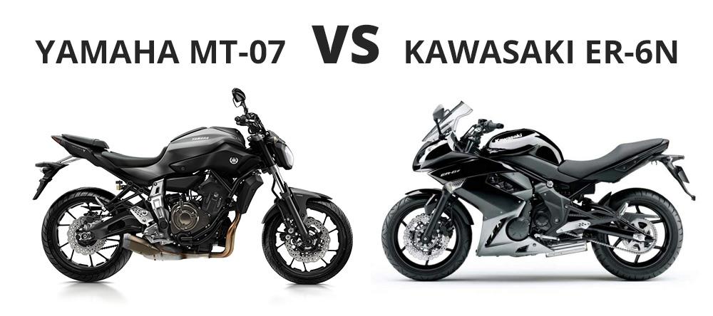 yahama mt-07 vs kawasaki er-6n