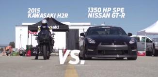 kawasaki h2r - 1350hp Nissan GTR