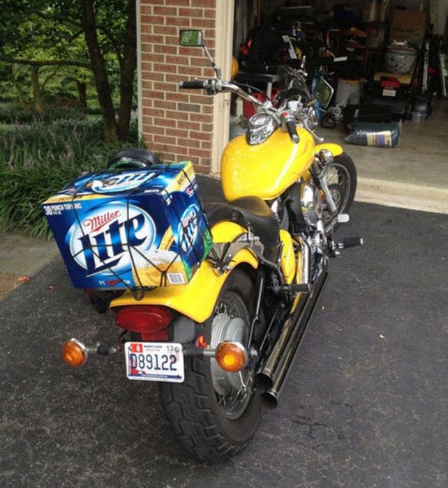 motosiklette bira taşımak