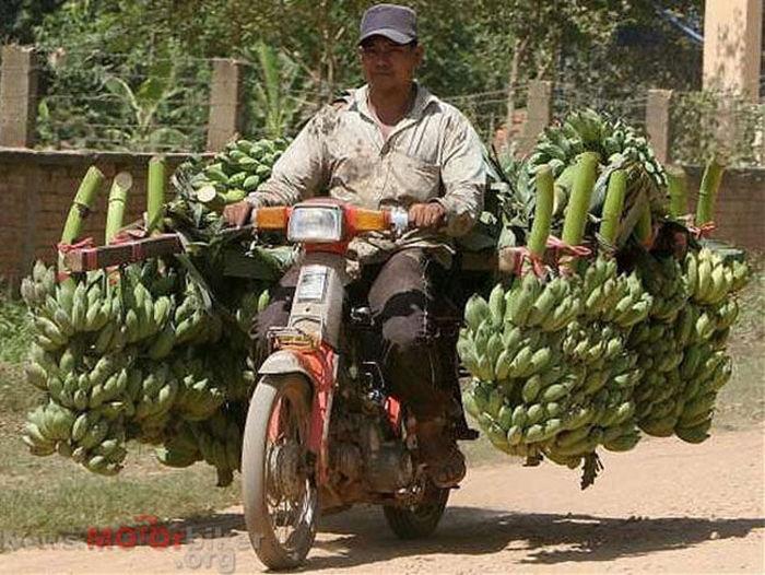 motosiklette muz taşımak