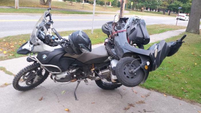 motosiklette motor taşımak