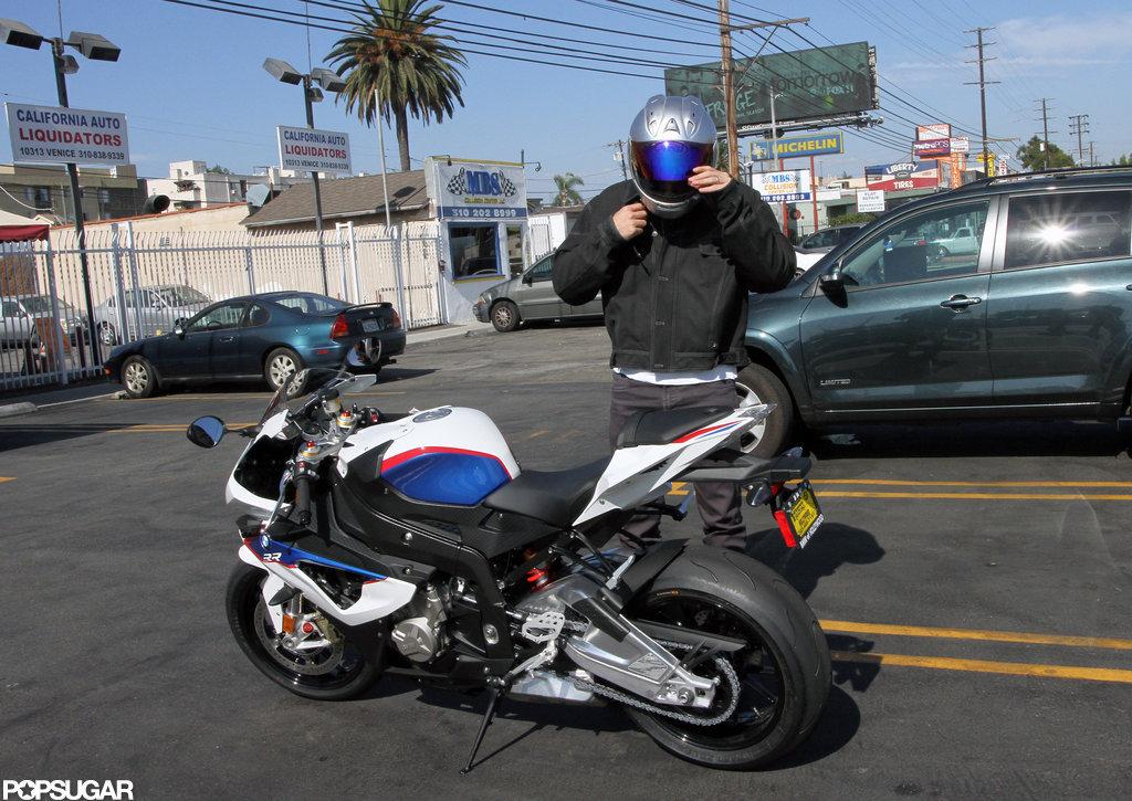 Motorcycle Helmet off
