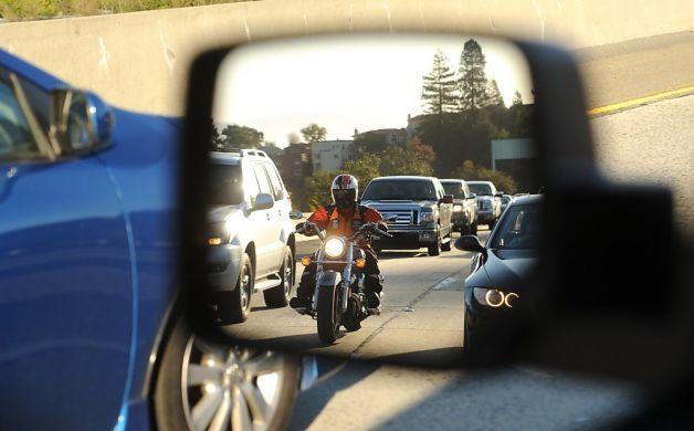 aynadan motosiklet