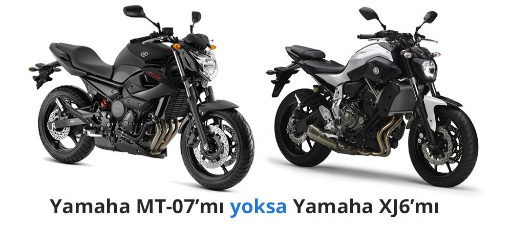 yamaha mt07 vs yamaha xj6