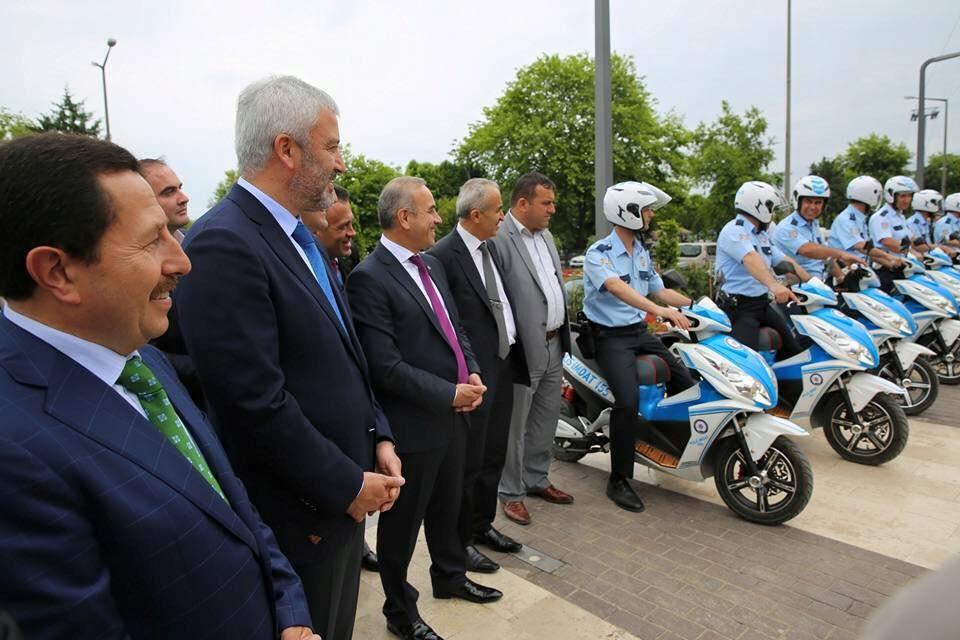 ordu belediyesi motorlu polisler selam