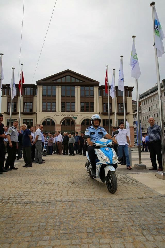 ordu belediyesi motorlu polisler geçit töreni