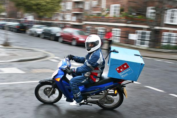 dominos pizza motosiklet