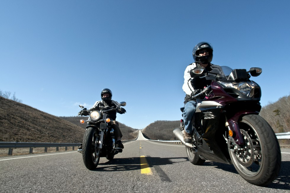 Virginia Tech Transportation Institute motorcycle study. Smart Road.
