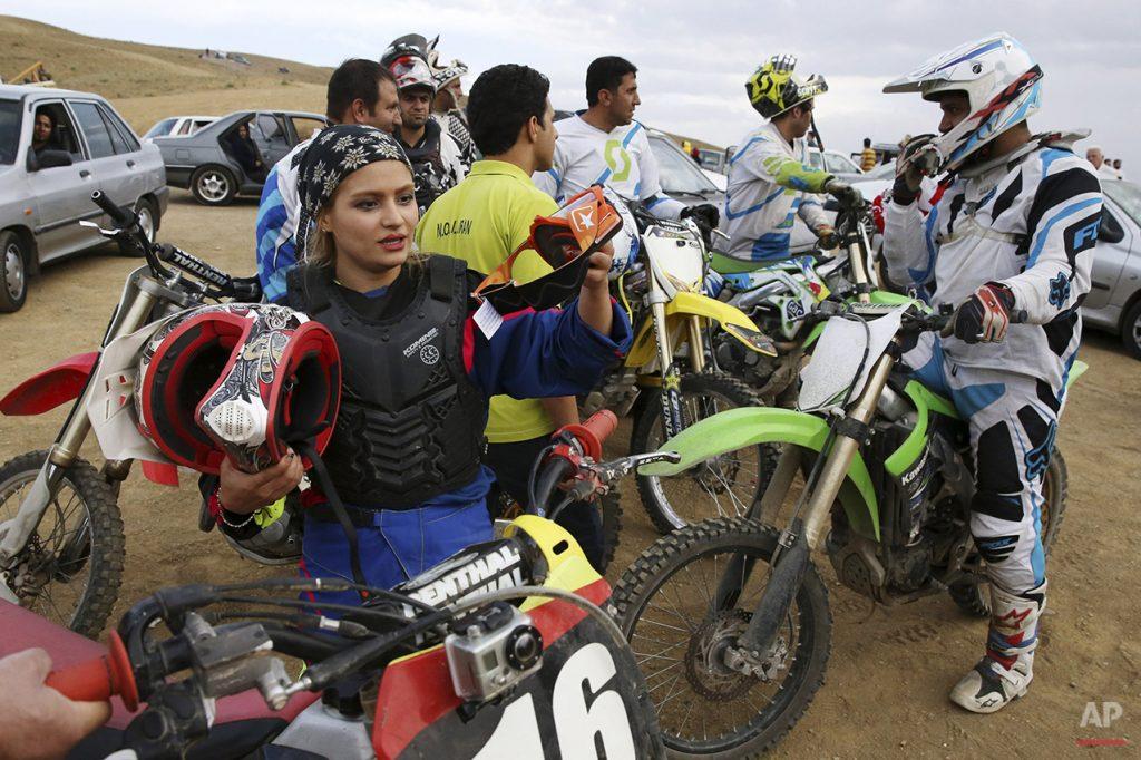 Iranian motocross rider Behnaz Shafiei