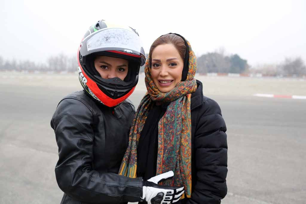 Iranian superbike and motocross rider Behnaz Shafiei