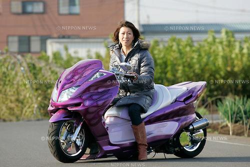 Megumi Takada on Yamaha Majesty ( Bell Custom ).