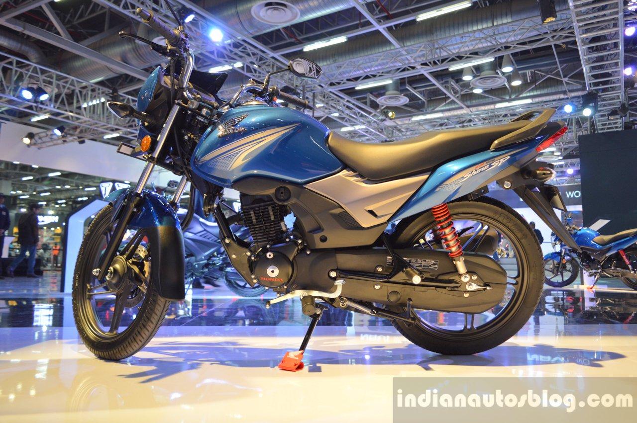 Honda CB Shine SP blue at Auto Expo 2016 - Honda CB 125 Shine SP
