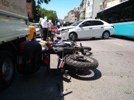 motosiklet kazası