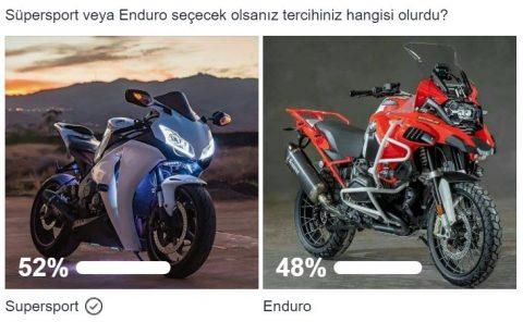 Süpersport veya Enduro seçecek olsanız tercihiniz hangisi olurdu?