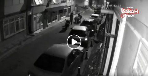 Acıbadem'de saniyeler içerisinde motosiklet çalan hırsızlar kamerada
