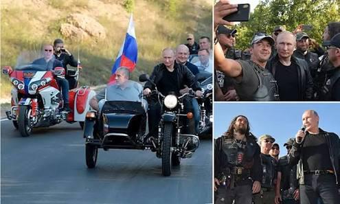 images 33 - Putin organizasyona Ural motosiklet ile geldi