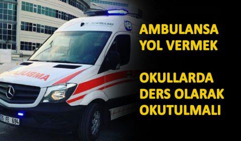 Ambulansa yol vermek - bu kural ancak bu kadar güzel anlatılabilirdi