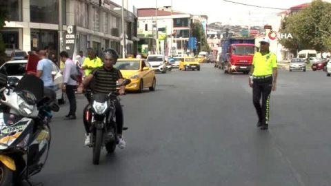 Ani trafik uygulaması, çok sayıda motosiklet çekildi