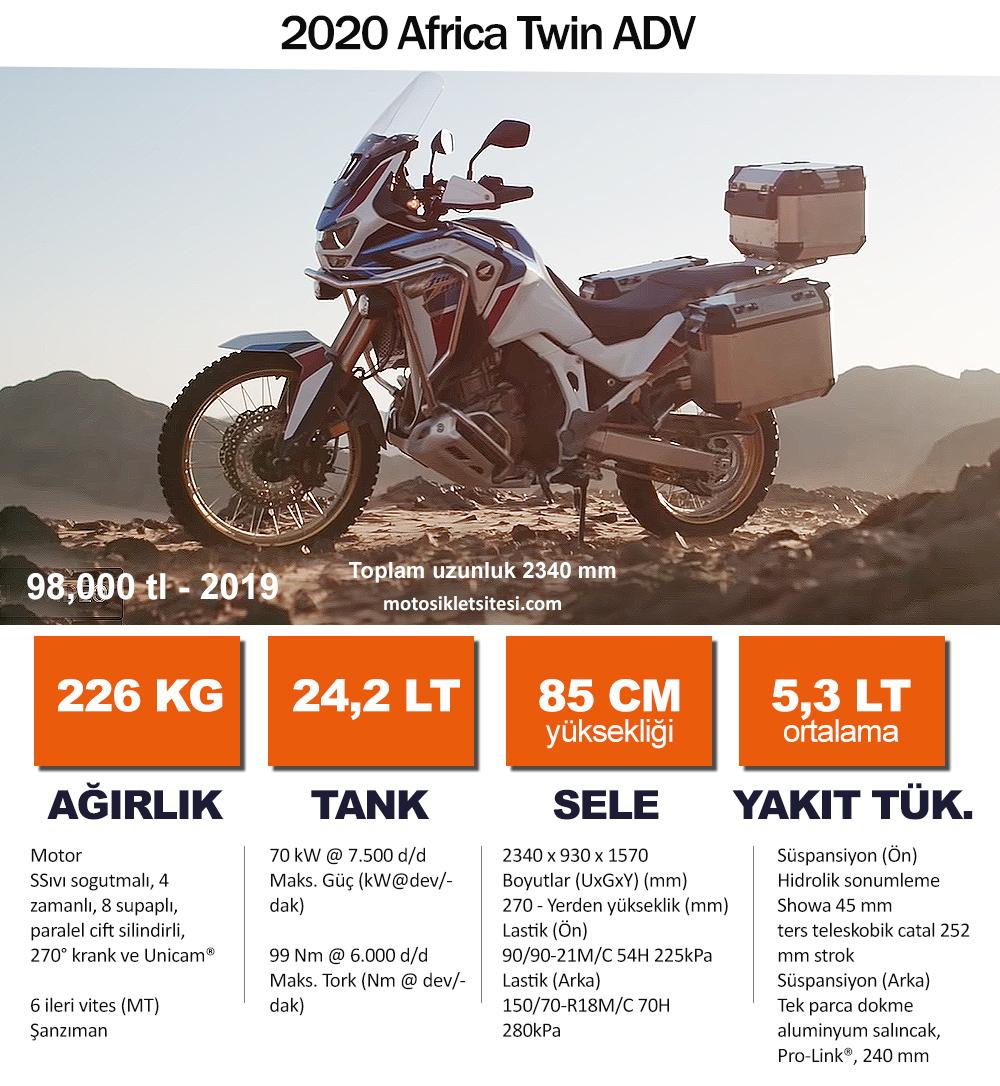 2020 Honda Africa Twin Teknik Özellikler