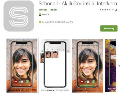 Kolay Videolu İletişim için Schonell - Smart Video Intercom