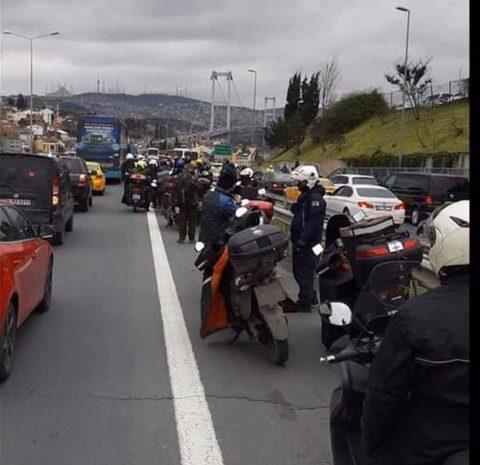 Motosikletler köprüyü geçemedi