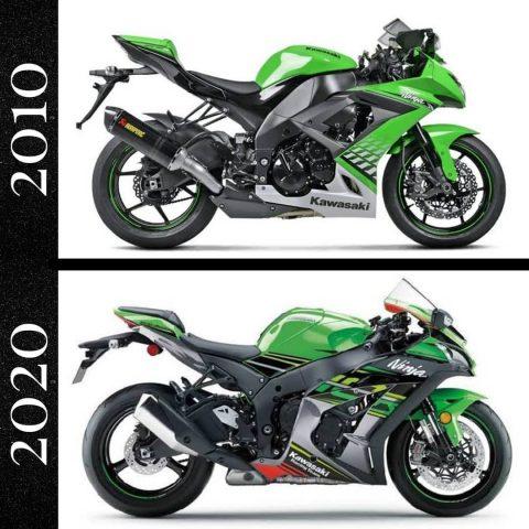 2010 yılından 2020 yılına gelene kadar değişim geçiren 3 Motosiklet modeli