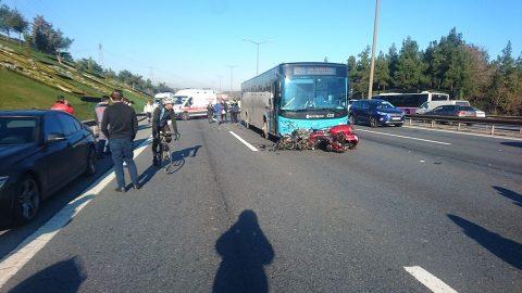 Çekmeköy Mevkiinde Motosiklet Kazası