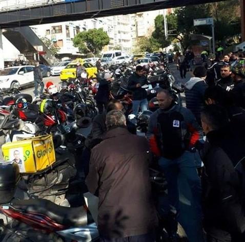 serkan kara vefat 1 - Vefat Eden Motosikletli Arkadaşımız için Hayat'da Kortej Düzenlendi