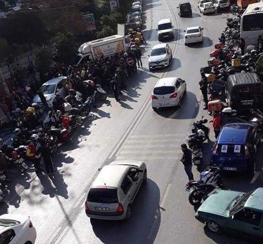 serkan kara vefat 6 - Vefat Eden Motosikletli Arkadaşımız için Hayat'da Kortej Düzenlendi