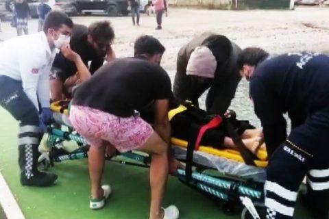 Feci Motosiklet Kazası, 80 metreden denize uçtu