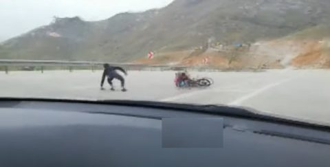 Motosiklet Kazası Saniye Saniye Kaydedildi