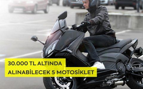 30.000 TL Altında Alınabilecek 5 Motosiklet