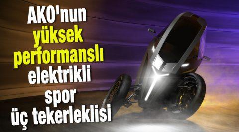 AKO'nun yüksek performanslı elektrikli spor üç tekerlekli motosikleti rezervasyonlu satışa başladı