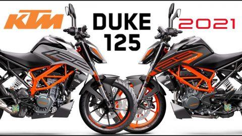 2021 new livery KTM 125 Duke color range